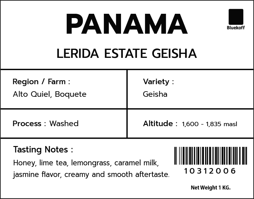 CA/PA Lerida Estate Geisha Washed (1 kg.)