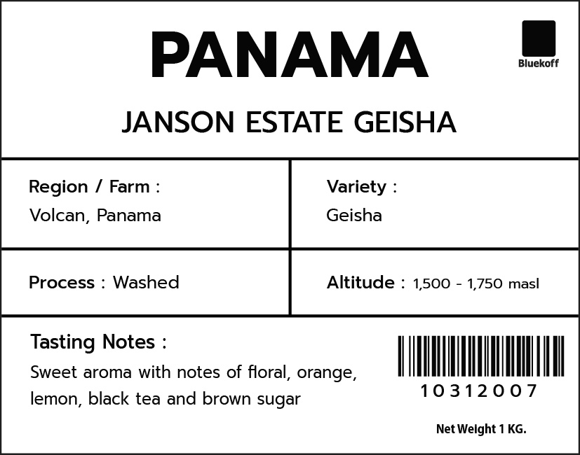 CA/PA Janson Estate Geisha Washed (1 kg.)