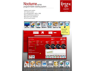 Froco Nocturne Programmable Roasting System for FR25 ขึ้นไป