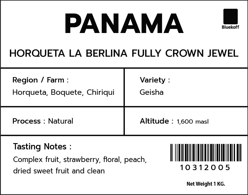 CA/PA Horqueta La Berlina Natural Geisha Crown Jewel (1kg.)