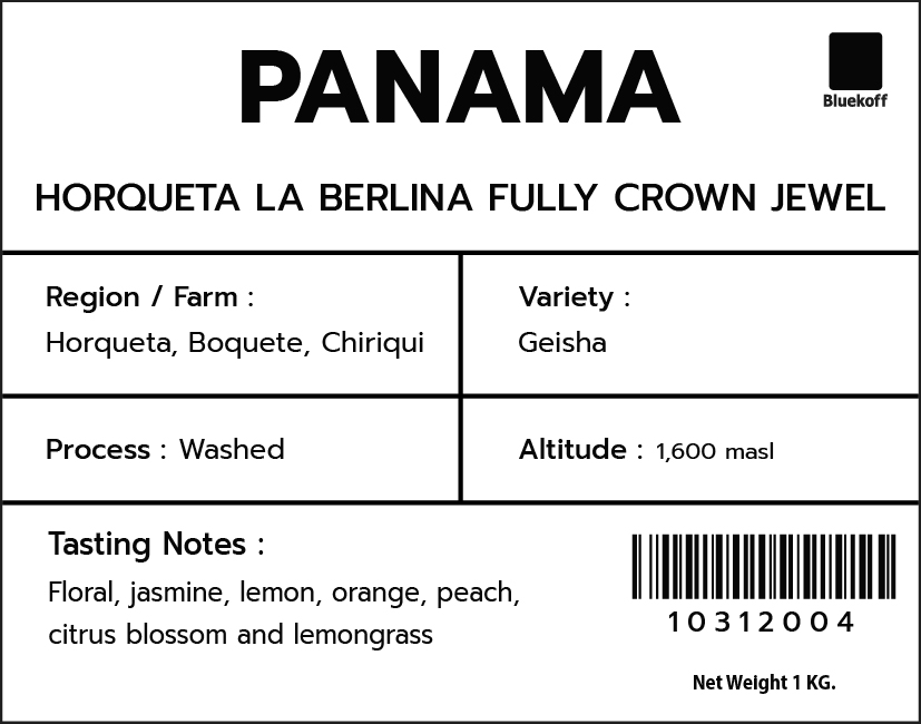 CA/PA Horqueta La Berlina Fully Washed Geisha Crown Jewel (1kg.)