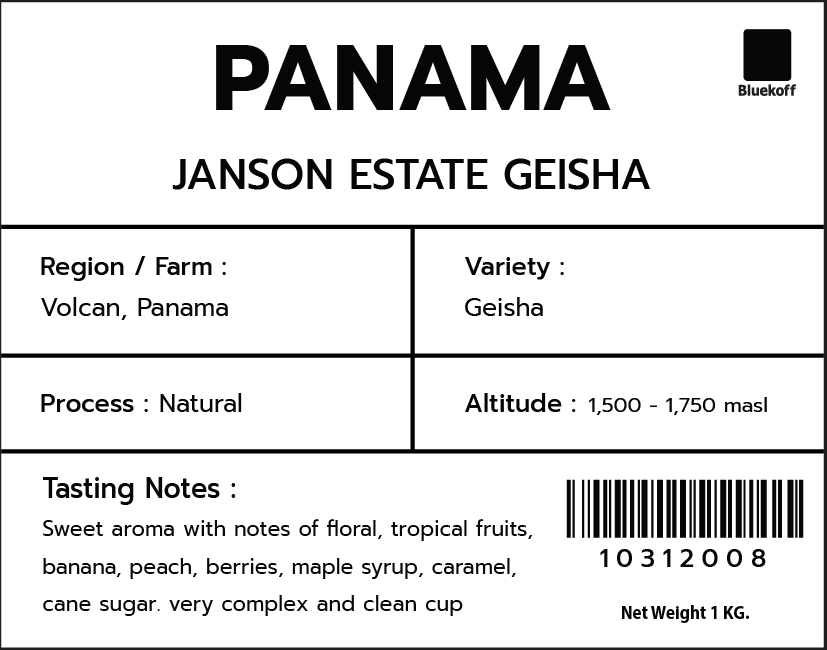 CA/PA Janson estate Geisha Natural (1 kg.)