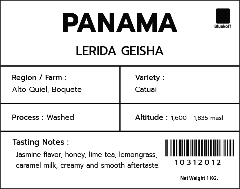 CA/PA Lerida Washed Geisha (1 Kg.)